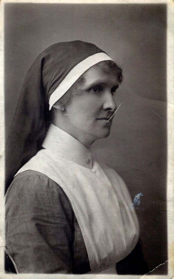 Studio Portrait Midwife Nurse 1920s