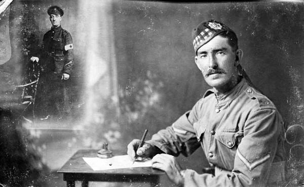 Studio Portrait Soldier Of The Royal Scots 1915
