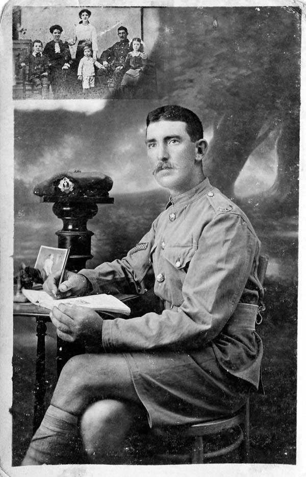 Studio Portrait Soldier Of The Royal Scots 1914