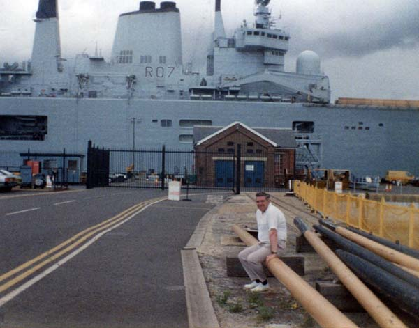 On Holiday Sitting In The Dockyard At Portsmouth 1978