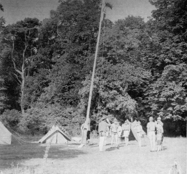 8th Leith Scouts Raising The Flag At Camp 1960s
