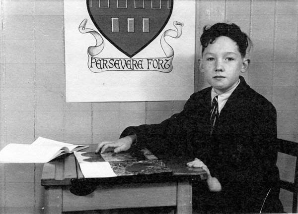 Fort Street Primary School Pupil Sitting At His Desk 1950s