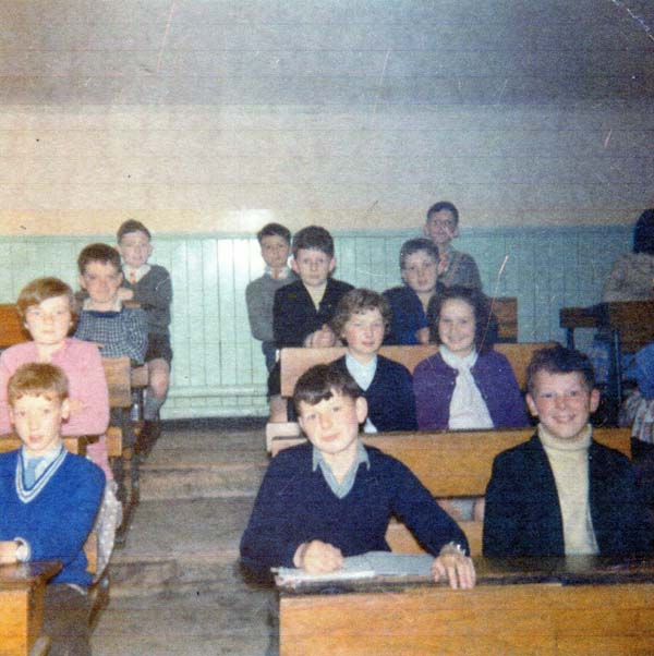 Fort Street Primary School Pupils Sitting At Desk In Classroom c.1960