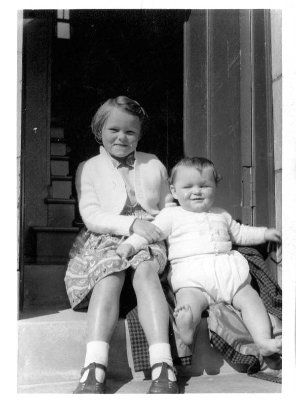 Sitting by the Front Door, Aug 1959
