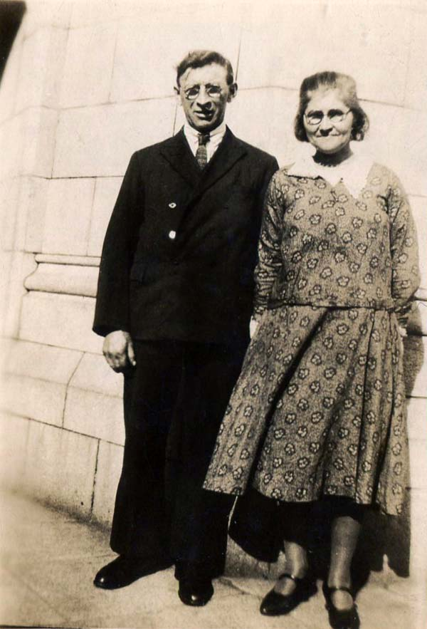 Couple Standing In The Street 1930s