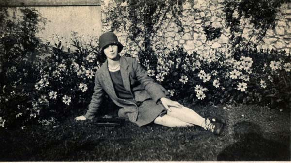 Young Woman Reclining In The Garden, September 1929