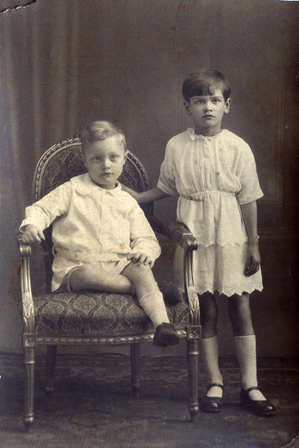 Studio Portrait Brother And Sister 1920s
