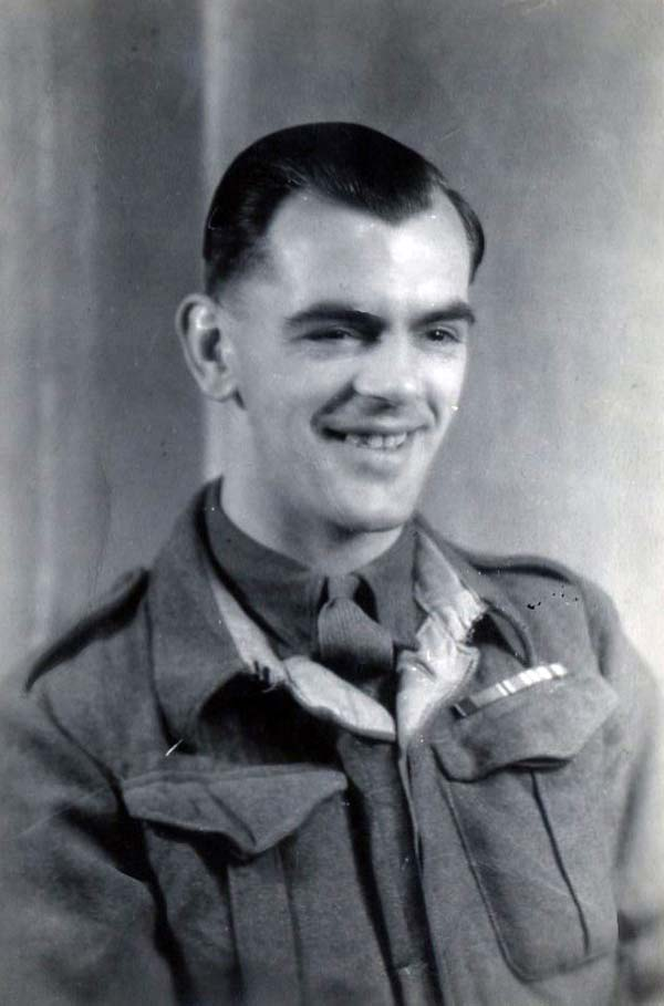 Studio Portrait Smiling Soldier 1940s