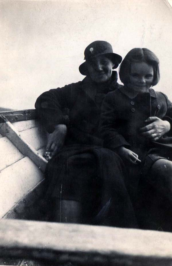Woman And Girl Out In Rowing Boat 1930s