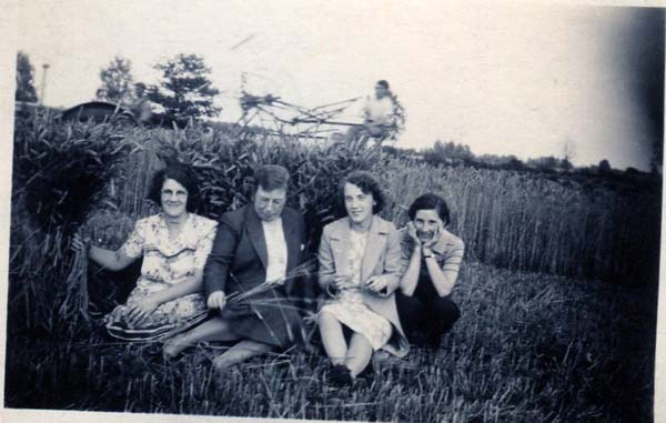 Group Of Women Sitting Amongst Sheaves Of Wheat 1930s