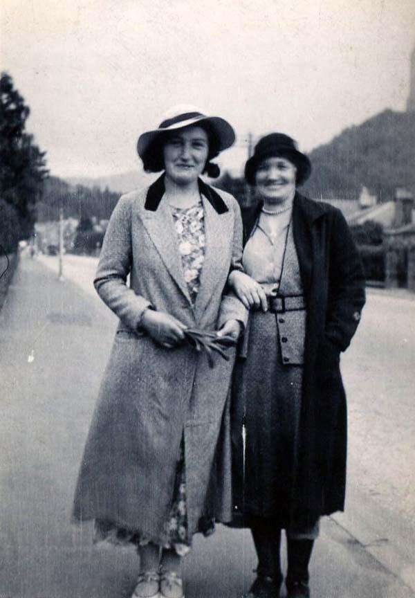 Two Women Walking Along The Road 1930s