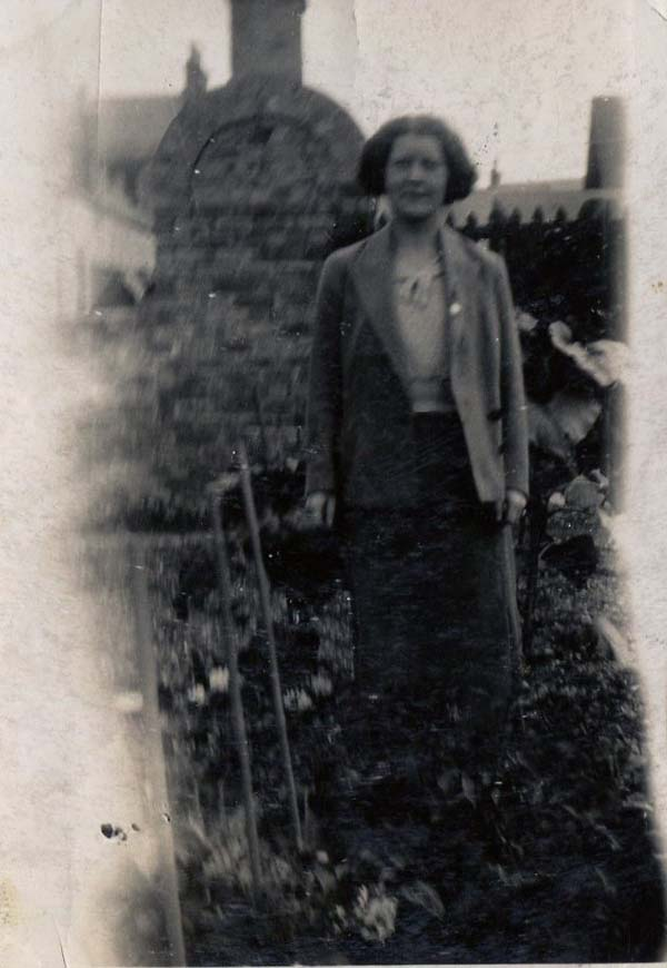 Woman Standing In The Garden 1930s