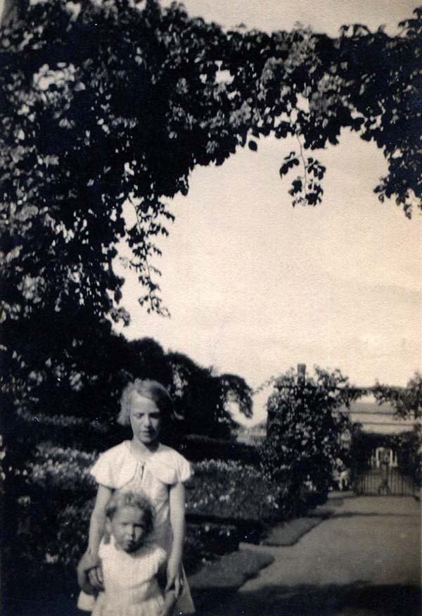Two Children In A Large Garden 1930s