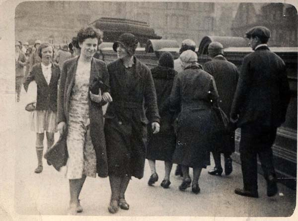 Two Women Walking Down North Bridge 1930s