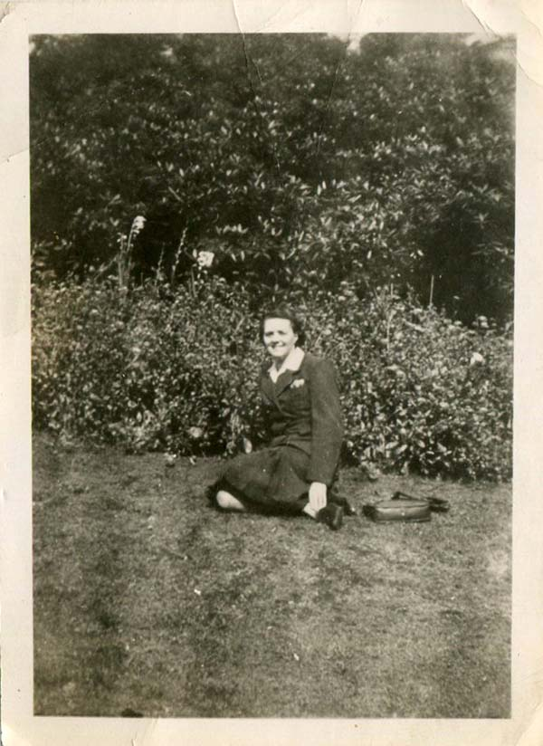 Woman Sitting On The Lawn 1930s