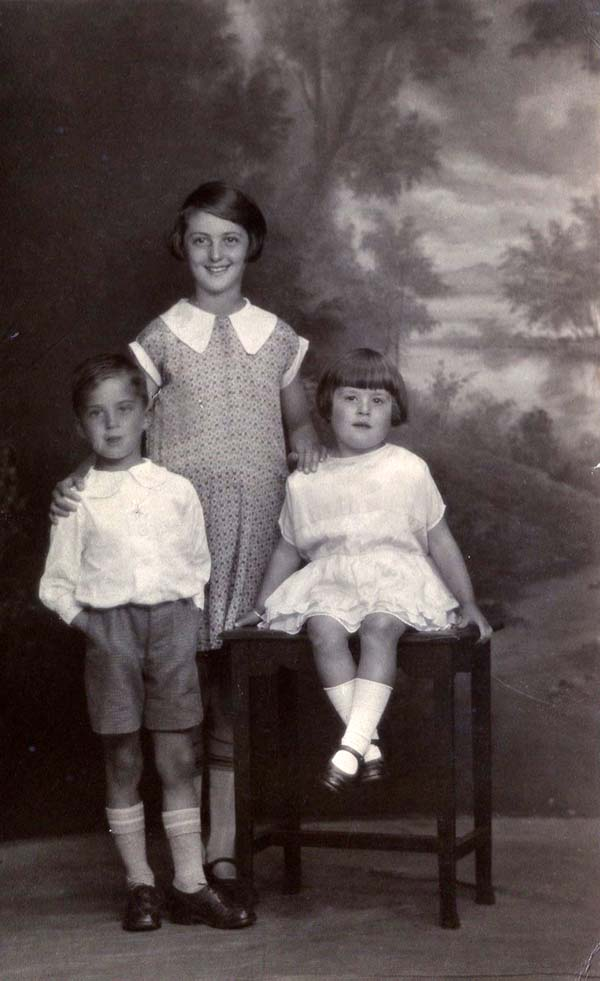 Studio Portrait Three Children 1930s