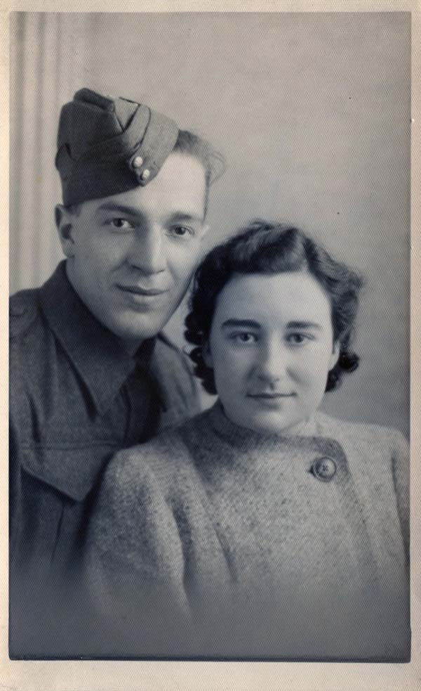 Studio Portrait Wartime Couple, 6 Nov 1940