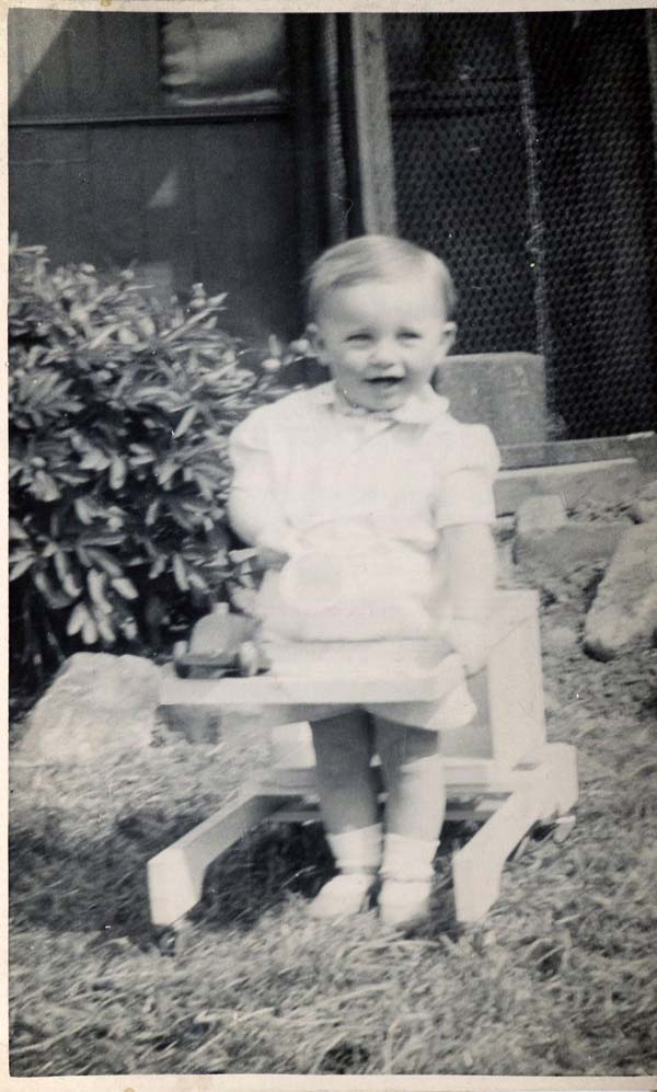 Young Child Playing In The Garden 1940s