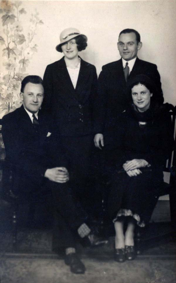 Studio Portrait Two Men And Two Women, 2 May 1935