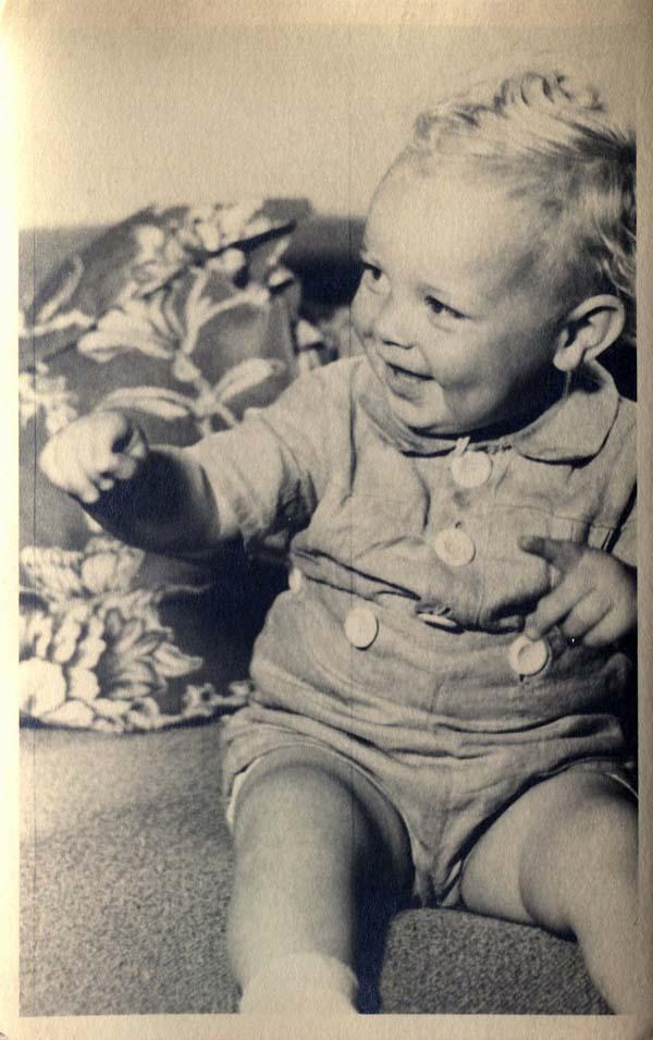 Studio Portrait Young Child 1930s