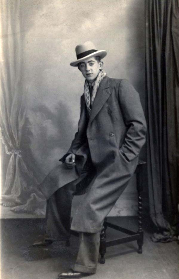 Studio Portrait Dapper Young Man Hand In Pocket 1930s