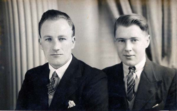 Studio Portrait Two Young Men, 13 Dec 1936