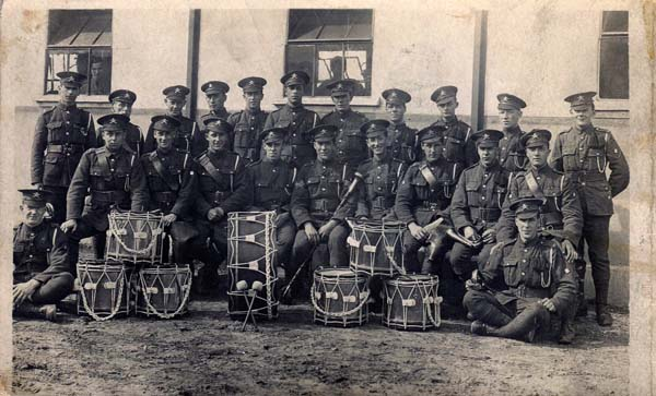 Military Drummers Unknown Regiment 1920s