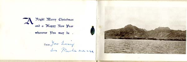 Christmas Greetings Card Royal Scots 1925