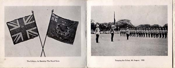 Greetings Card With Royal Scots Trooping The Colour 1924