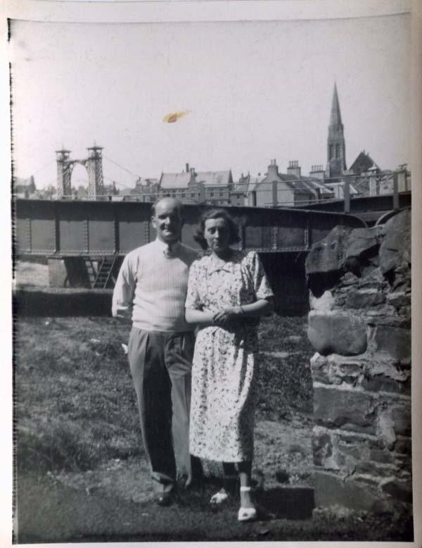 Couple On A Trip To Peebles, July 1946