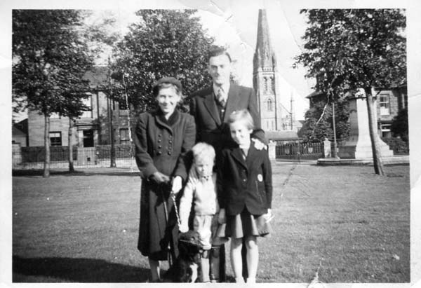 Family Out For Walk In Victoria Park, mid-1950s