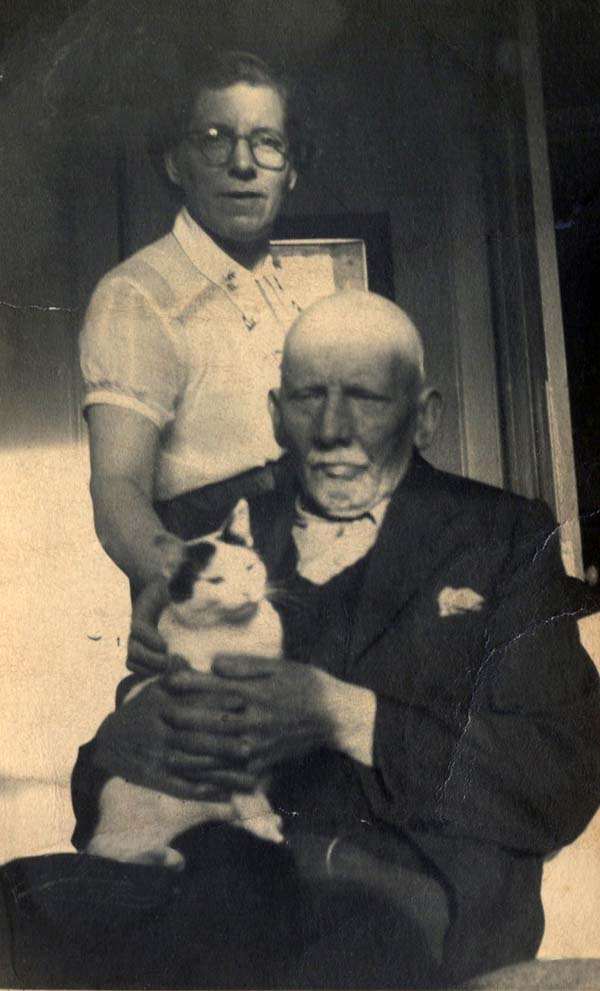 Father And Daughter With Cat, early 1950s