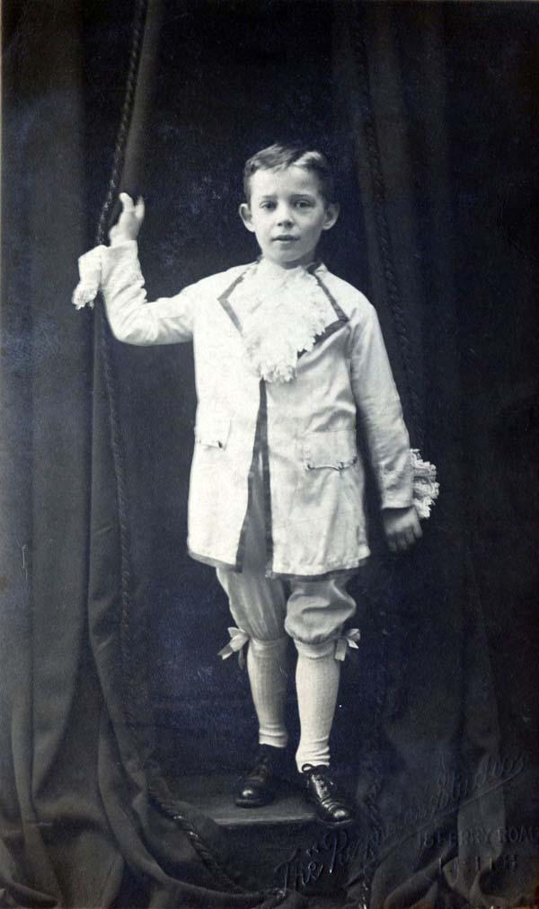 Studio Portrait Young Boy 1920s