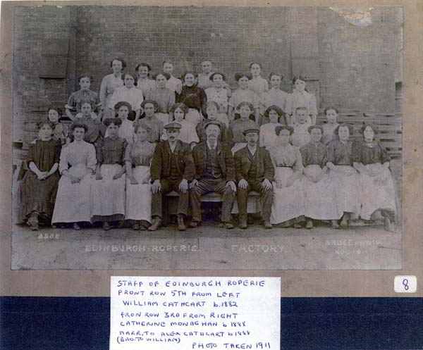 Staff Of Edinburgh Roperie, August 1911