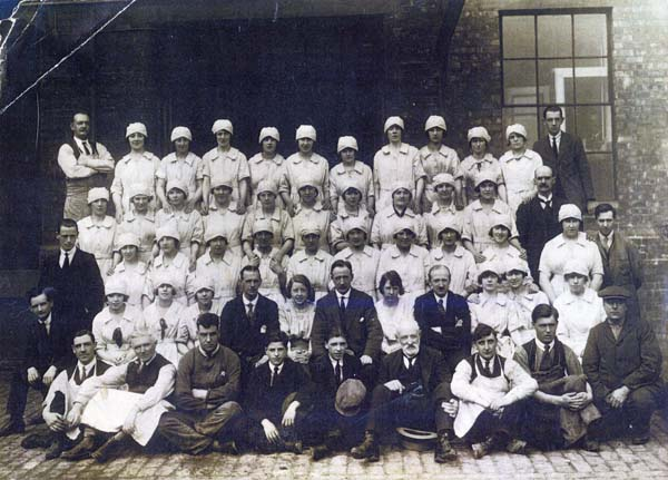Scottish Co-operative Wholesale Society Preserves Factory Staff, early 1920s