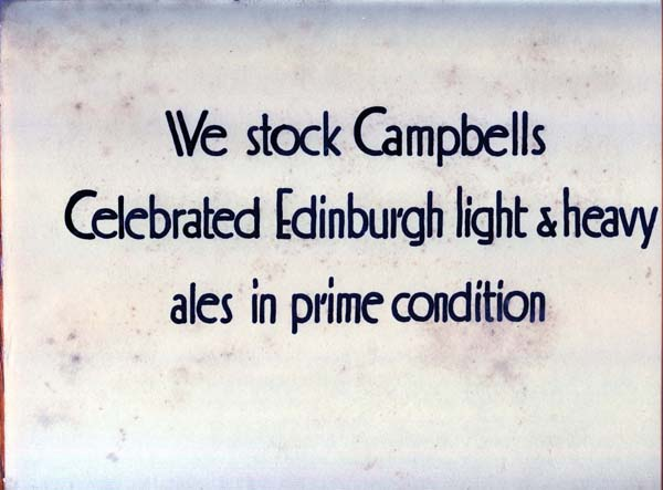 Advertising Plaque From Mac's Bar, 201 Cowgate, Edinburgh 1890s