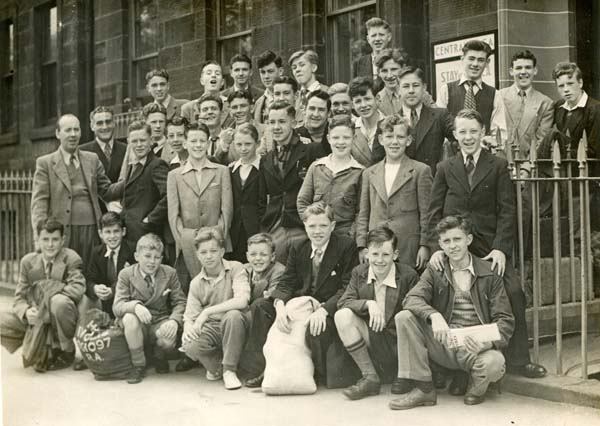 YMCA Members Outside Central YMCA Offices c.1950