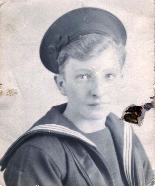 Portrait Young Sailor Of The Royal Navy 1940s