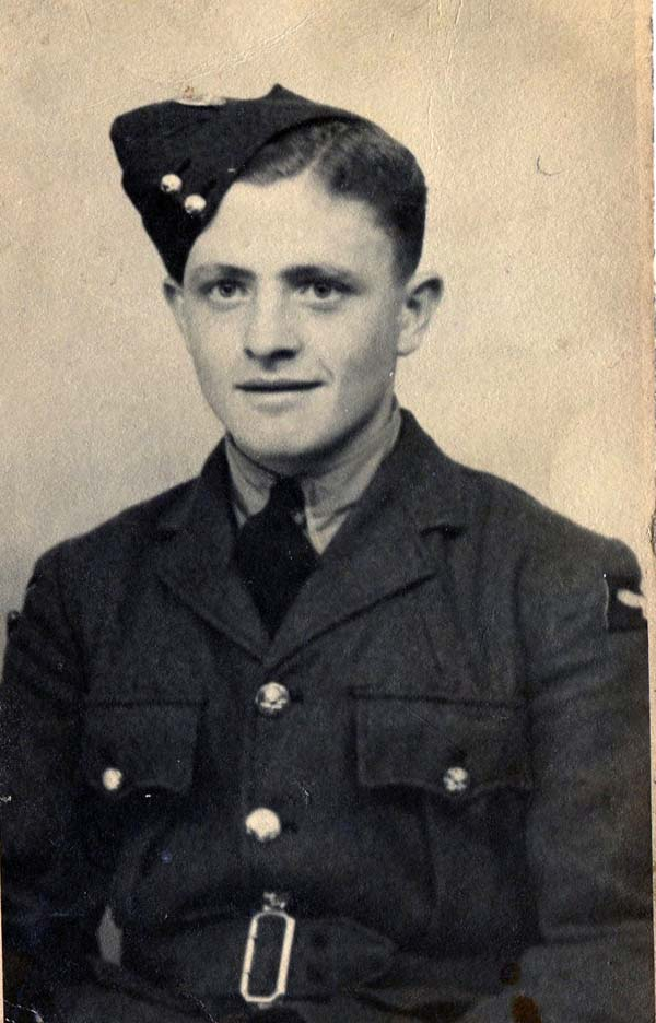 Portrait Young Airman Of The Royal Air Force 1940s