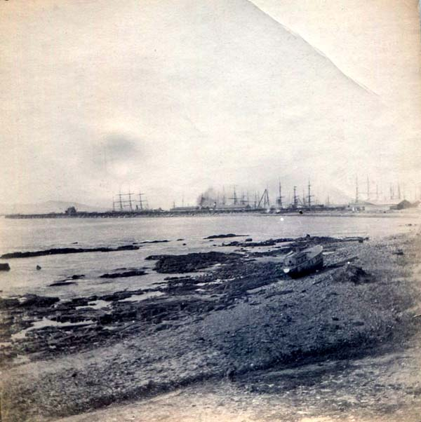 Ships At Anchor In The Distance, Boer War 1899-1902
