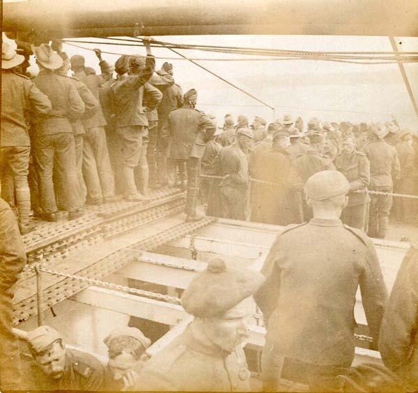 Soldiers On Board Troopship, Boer War 1899-1902