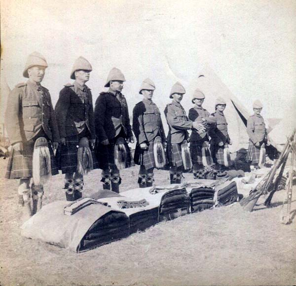 Soldier Kit Inspection, Boer War 1899-1902