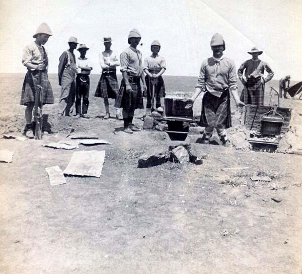 Soldiers Standing Round Field Canteen, Boer War 1899-1902