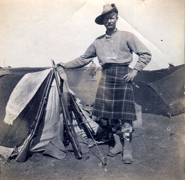 Soldier Standing By Camp Tent, Boer War 1899-1902