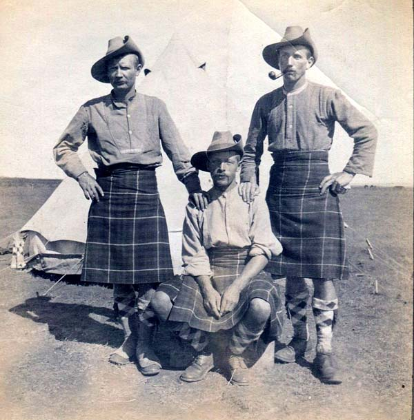 Three Soldiers At Field Camp, Boer War 1899-1902