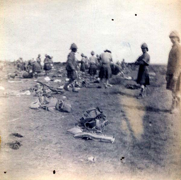 Soldiers Setting Up Or Leaving Camp, Boer War 1899-1902