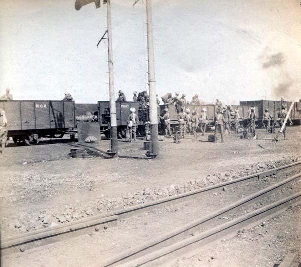 Soldiers Embarking Or Disembarking Troop Train, Boer War 1899-1902