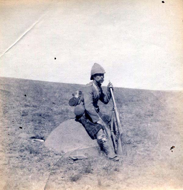 Soldier Resting On Mound Of Earth, Boer War 1899-1902