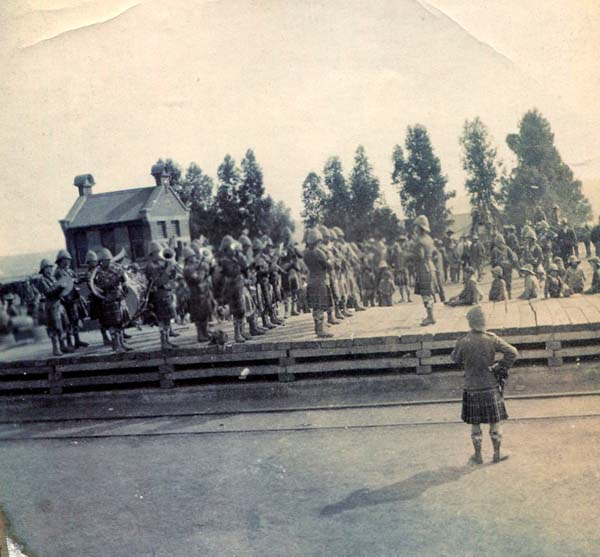 Regiment Band Performing On Station Platform, Boer War 1899-1902