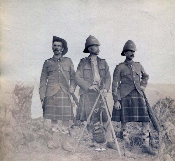 Three Soldiers With Signalling Equipment, Boer War 1899-1902